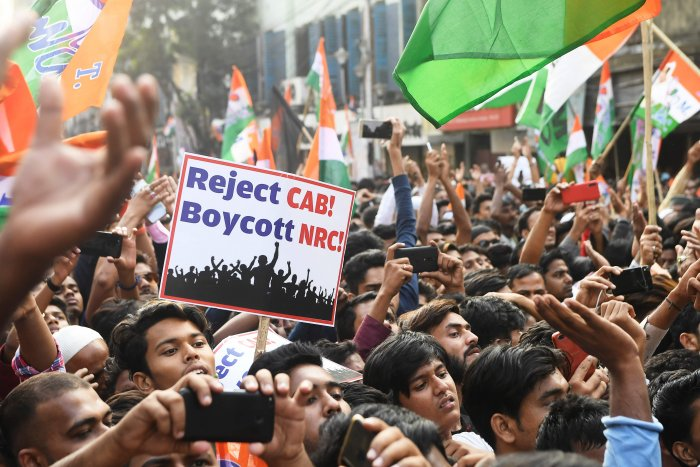 Protesters protesting against CAA, NRC. (PTI Photo)