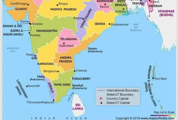 Hyderabad In India Map AP in India map without Amaravati; Naidu blames Jagan | Deccan Herald