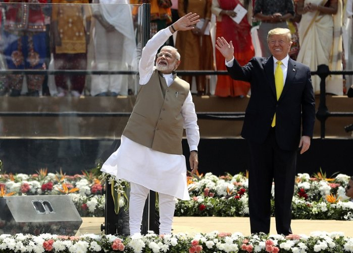 US President Donald Trump and Indian Prime Minister Narendra Modi. (PTI Photo)
