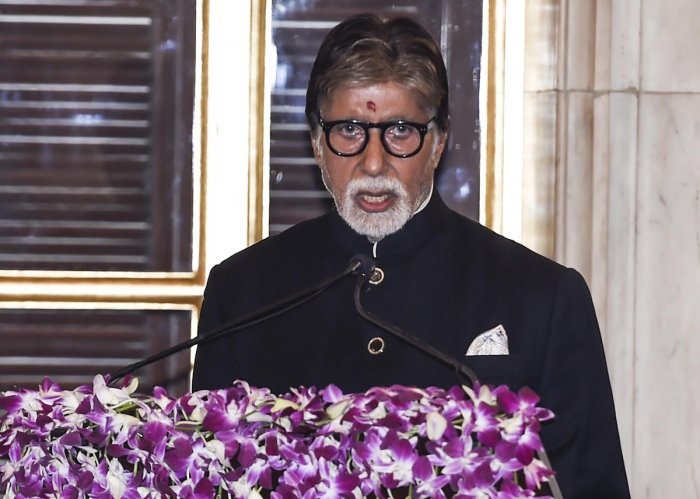Bachchan was earlier supposed to receive the honour at the National Film Awards ceremony last Monday, but the actor was unable to attend the event due to ill health. Photo/PTI