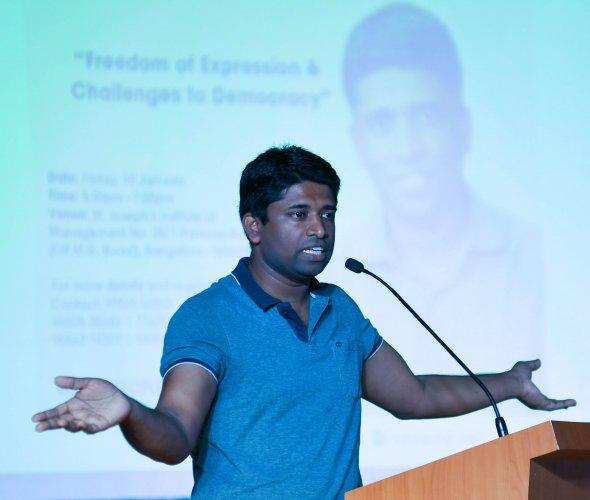 Kannan Gopinathan, former IAS officer. (Photo Credits: DH)
