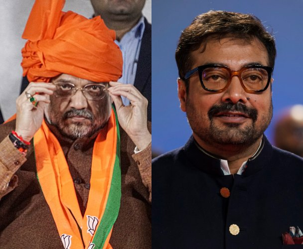 Union Minister Amit Shah and Bollywood film director Anurag Kashyap. (File Photo)