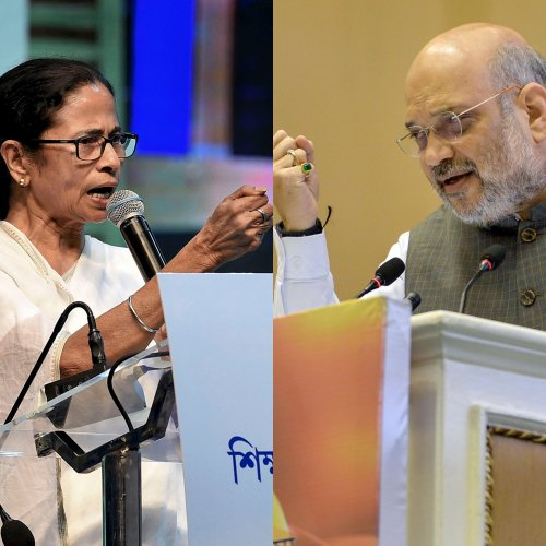 The TMC believes it will be able make Amit Shah's push for Hindi into issue during the next Bengal polls. (PTI Photo)