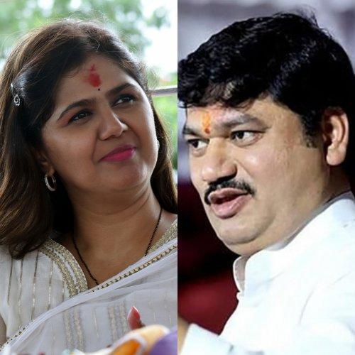 Pankaja Gopinath Munde of BJP and Dhananjay Munde of NCP. (DH Photo)