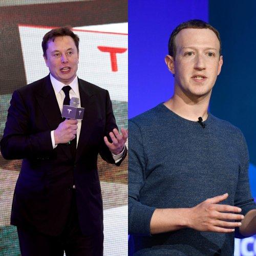 Elon Musk and Mark Zuckerberg. (AFP Photo)