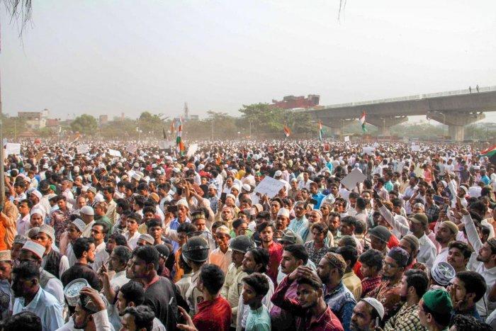 The anit-CAA protest in Delhi. (PTI file photo)