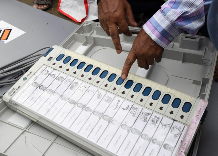 "Villagers said votes cast in favour of the NCP nominee Srinivas Patil were going into the ""account"" of BJP candidate Udayanraje Bhosale, a claim district poll officials rejected. AFP file photo for representation"