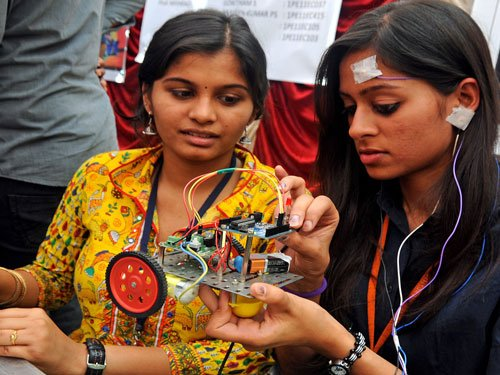The highest package that has been offered to a student in the college this year is Rs 49 lakh per annum. Subramanya said 300-400 have got packages of Rs 14 lakh on average. DH file photo