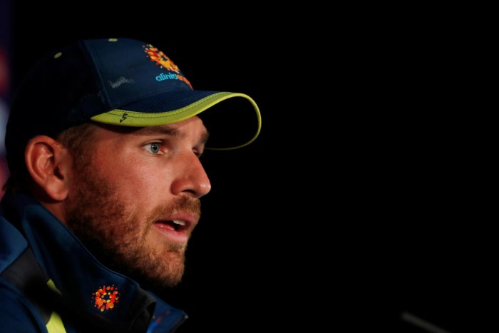 """""""It started out as a little back niggle and it's just a little tear in my side. So hopefully not too long. It's been a week since I did it,"""" Finch told Perth radio 6PR at the weekend. Photo/Reuters"""