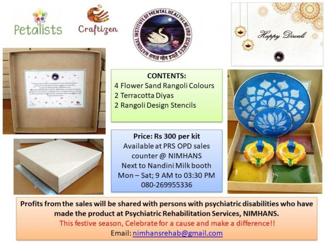 Festival kit designed by patients at Nimhans