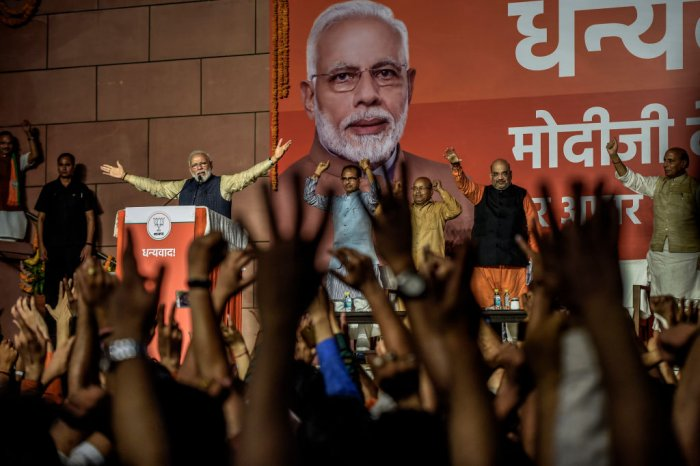 BJP incurred the maximum expenditure, Rs 651.64 crore under Publicity, which forms 43.58% of the total expenditure incurred by all political parties on publicity while Congress spent Rs 476.83 crore on this count. (Credit: Getty Images)