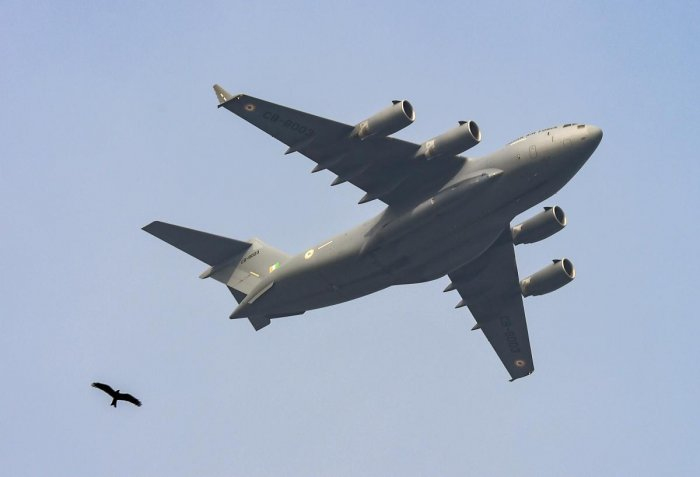 The C-17 Globemaster, the biggest military aircraft in the Air Force, will carry a large consignment of medical supplies to China and bring back more Indians from Wuhan, the epicentre of the coronavirus epidemic. PTI