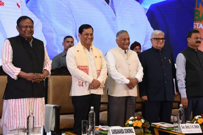 India and Bangladesh leaders in the stakeholders' meet in Guwahati on Tuesday. (Photo: Assam govt.)