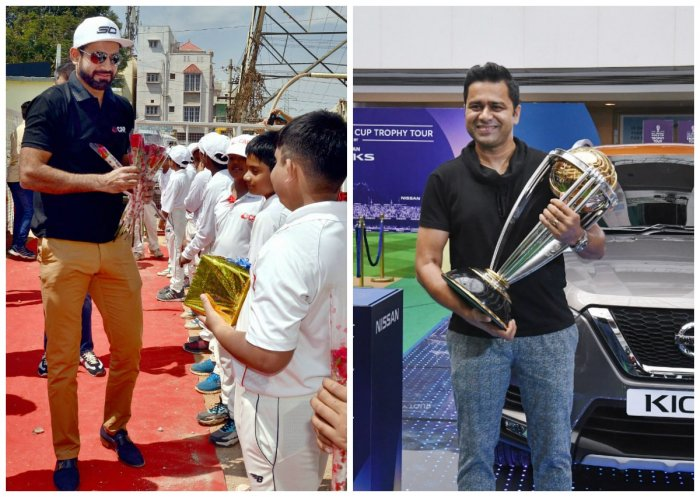 Irfan Pathan and Akash Chopra. (PTI Photo)