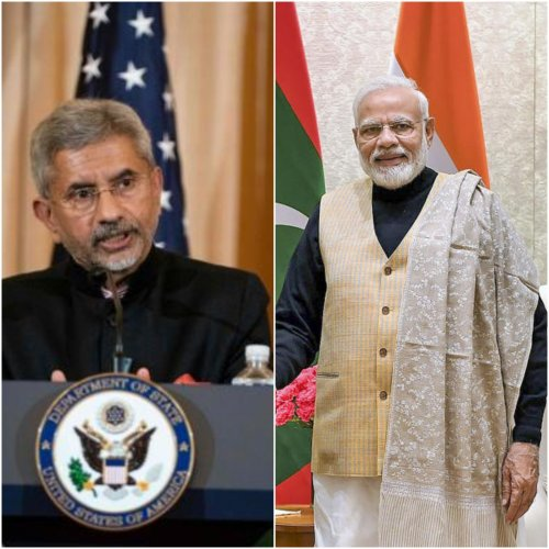 Foreign Minister S Jaishankar and Prime Minister Narendra Modi. (PTI photo)