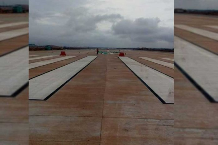 The painting work on the second runway and the taxiway will go on until July 25.