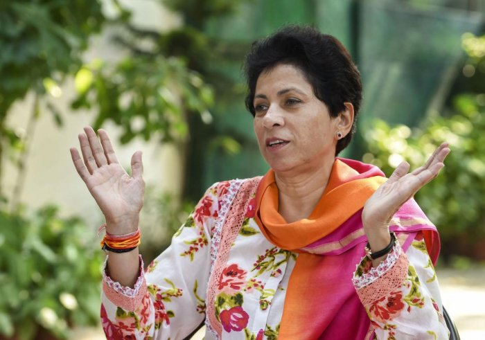 Haryana Congress chief Kumari Selja. PTI Photo