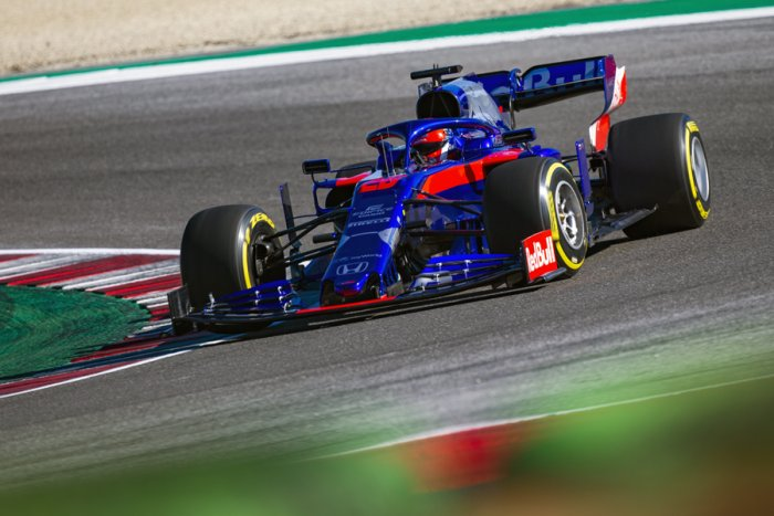 Toro Rosso's Russian driver Daniil Kvyat was at the top of the timecharts on the third day of testing in Barcelona. Picture credit: Toro Rosso