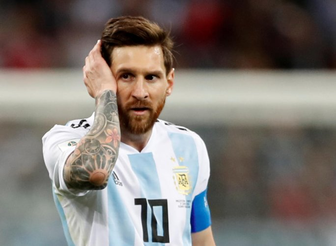 Messi's first goal of the tournament got the two-time winners off to a perfect start in Saint Petersburg, but Victor Moses's 51st-minute penalty had Jorge Sampaoli's men heading for a humiliating group stage exit until Rojo's late intervention. (Reuters Photo)