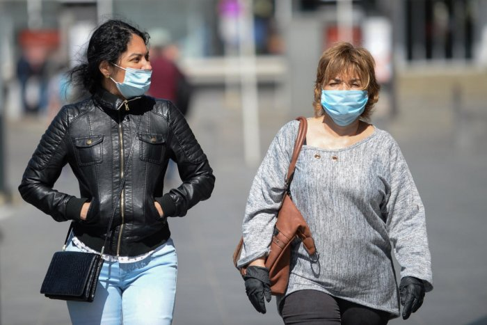 Women wear protective face masks during the coronavirus disease (COVID-19) outbreak, in central station of Luxembourg, April 20, 2020. Credit: Reuters Photo