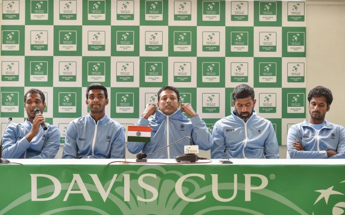 """""""We have asked AITA to request for a neutral venue,"""" said India captain Mahesh Bhupathi. PTI file photo"""