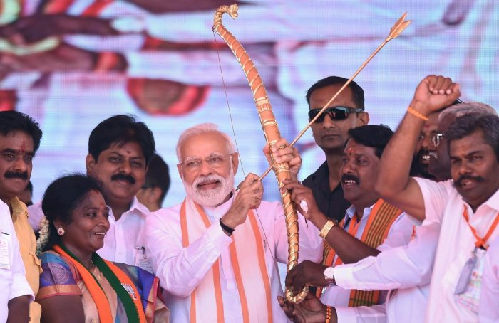 Tamil people have expressed anti-Modi sentiments in cyberspace and on the ground. (PTI Photo)