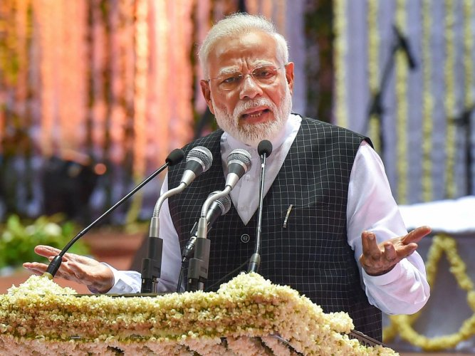 The PM also referred to the menace of terrorism and said that its roots could be traced to Pakistan. PTI Photo