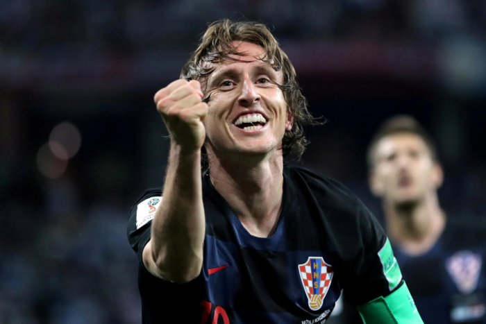 Croatia's Luka Modric hopes to surpass the achievements of 'Class of 1998' that first inspired him as a boy. REUTERS