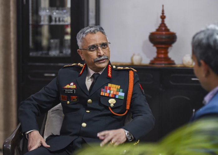 New Army Chief General Manoj Mukund Naravane during an interview with PTI