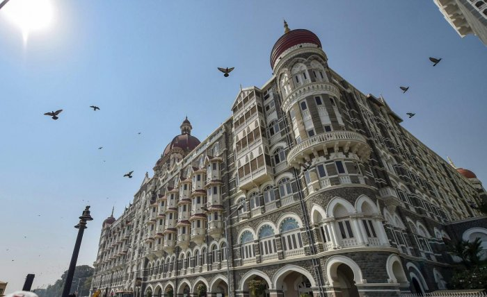 A view of the Taj Mahal Palace hotel which was a target during the 26/11 terror attack. (PTI Photo)