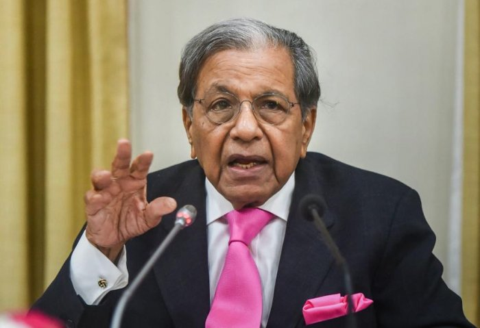 15th Finance commission Chairman NK Singh addresses a press conference, at RBI headquarters in Mumbai. (PTI File Photo)