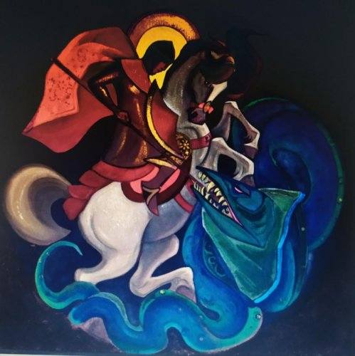 A work of eminent 20th Century Russian painter Nicholas Roerich. File photo