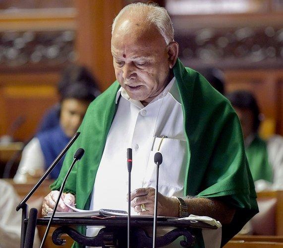 Karnataka Chief Minister BS Yediyurappa. (PTI Photo)