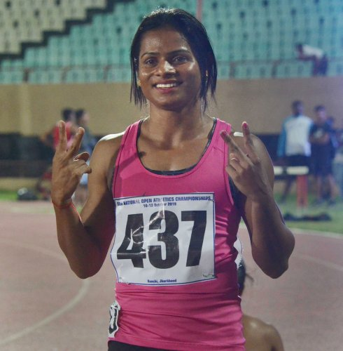 Indian professional sprinter and current national champion Dutee Chand. (PTI Photo)