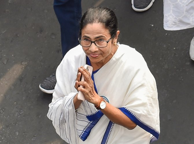 West Bengal Chief Minister Mamata Banerjee leads a rally, vowing not to allow the proposed countrywide NRC and the Amended Citizenship Act in West Bengal, in Kolkata. (PTI Photo)