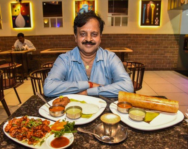 K N Vasudeva Adiga now runs the Paakashala restaurant chain.