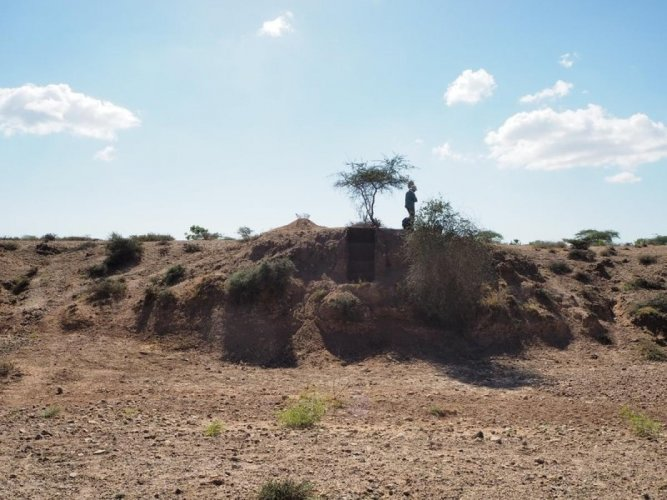 Tanged point from the 114,000-year-old Middle Palaeolithic site of Sandhav. DH Photo