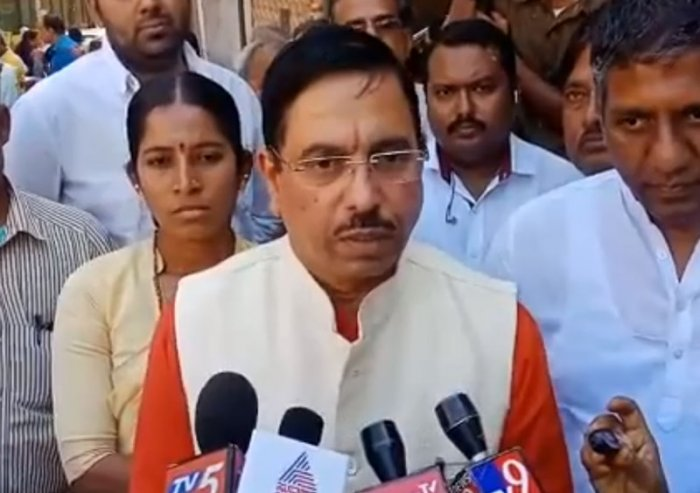"""Parliamentary Affairs Minister Pralhad Joshi almost ruled out giving Leader of Opposition (LOP) in parliament position to Congress. """"We will follow the rules,"""" he said."""
