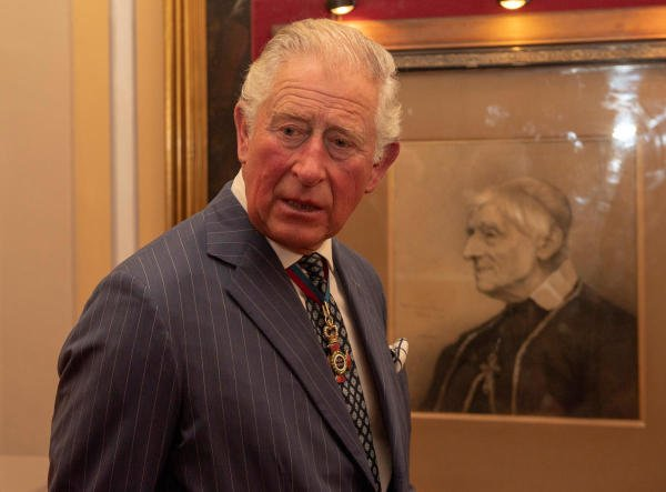 Britain's Prince Charles visits an exhibition of Cardinal Newman's life and work at the Venerable English College in Rome. (Reuters photo)