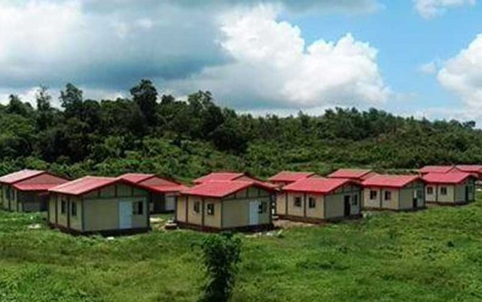 Houses that India built for Rohingyas in Myanmar