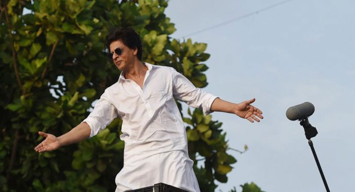 The actor said he never thinks of himself as a star in Delhi but sometimes has to behave like one. Photo/AFP