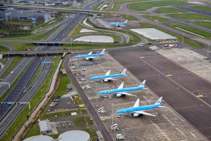 The KLM flight carrying around 120 passengers left Schiphol airport but had to make a U-turn after being told by India to return. AFP