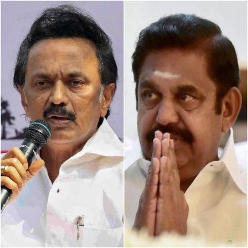 DMK President and Opposition Leader M K Stalin and Chief Minister Edappadi K Palaniswami. (PTI photos)