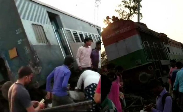 The accident took place near Harchandpur in Rae Bareli district at around 6.05 am. ANI photo.