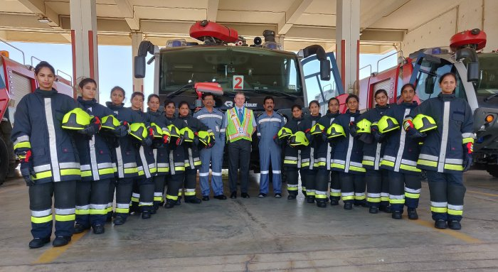 KIA operator, the Bangalore International Airport Limited (BIAL) has inducted 14 women firefighters into its Aircraft Rescue & Fire Fighting (ARFF) squad.