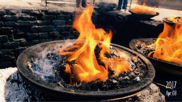 A `yajna' (sacred fire) was organized to 'purify' the village and the head priest of the Unai temple presided over the re-conversion program, Yashoda Didi said.