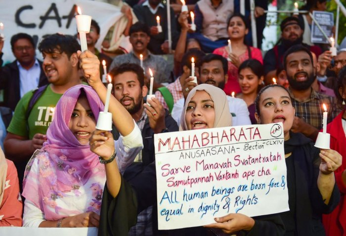 PTI file photo of an anti-CAA protest in Bengaluru