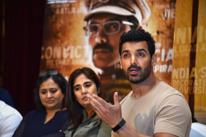 Bollywood actor John Abraham, starcast of movie 'Batla House', during a press conference (PTI Photo)