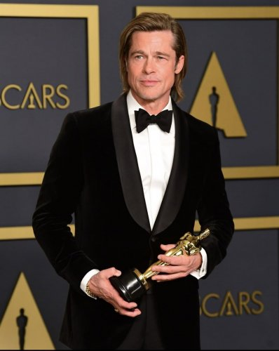 Brad Pitt won the best supporting actor award for Once Upon A Time In Hollywood. (Credit: Twitter)