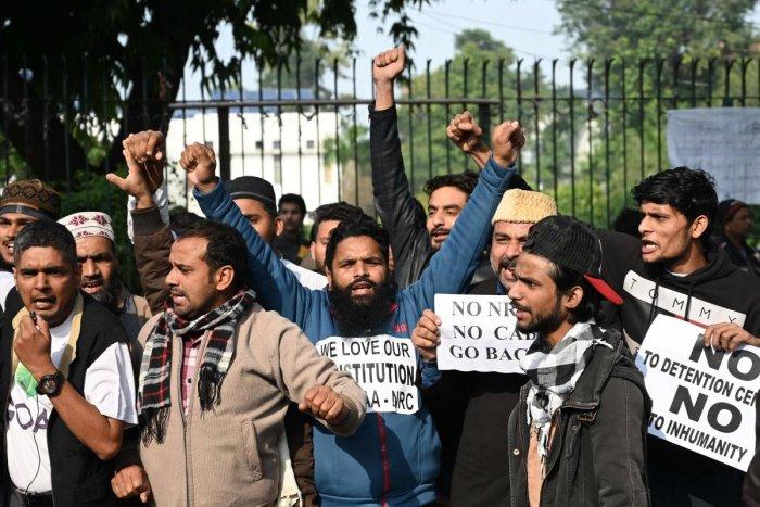 Minhajuddin suffered an eye injury when the anti-Citizenship (Amendment) Act protest at Jamia Millia Islamia turned violent. Representative image/PTI